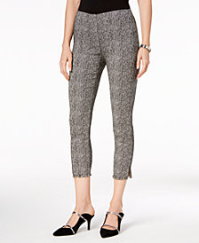 Alfani Tweed Fringe-Hem Ankle Pants, Created for Macy's