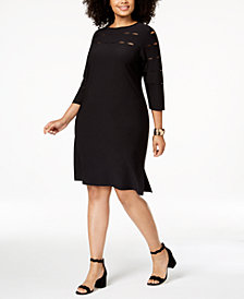 Love Scarlett Plus Size Slit-Detail A-line Dress