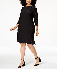 Love Scarlett Plus Size Slit-Detail A-line Dress