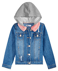 Epic Threads Little Girls Hooded Denim Jacket, Created for Macy's