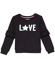 Epic Threads Toddler Girls Ruffle-Trim Sweatshirt, Created for Macy's
