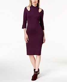 Love Scarlett Petite Mock-Neck Sweater Dress