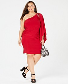 Plus Size One-Shouldered Dress