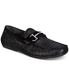 Alfani Men's Jayme Embossed Drivers with Bit, Created for Macy's
