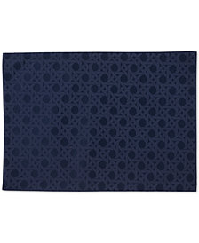 "kate spade new york Café Caning  13"" x 19"" French Navy Placemat"
