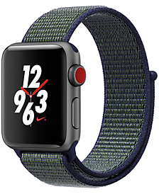 Apple Watch Nike+ (GPS + Cellular), 38mm Space Gray Aluminum Case with Midnight Fog Nike Sport Loop