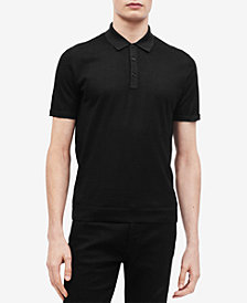 Calvin Klein Men's Contrast-Collar Wool Polo