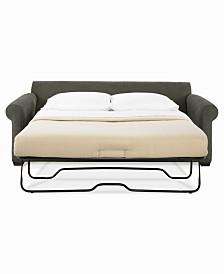 """Dial II 89"""" Queen Sleeper Sofa with 4 Toss Pillows"""