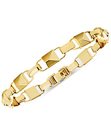 Michael Kors Women S Mercer Link 14k Gold Plated Sterling Silver Bracelet