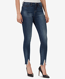 WILLIAM RAST High-Rise Sculpted Frayed Skinny Jeans