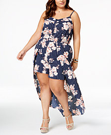 Monteau Trendy Plus Size Skirted Romper