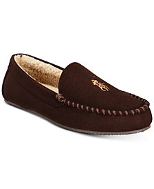 Polo Ralph Lauren Men's Dezi Micro-Suede Slippers