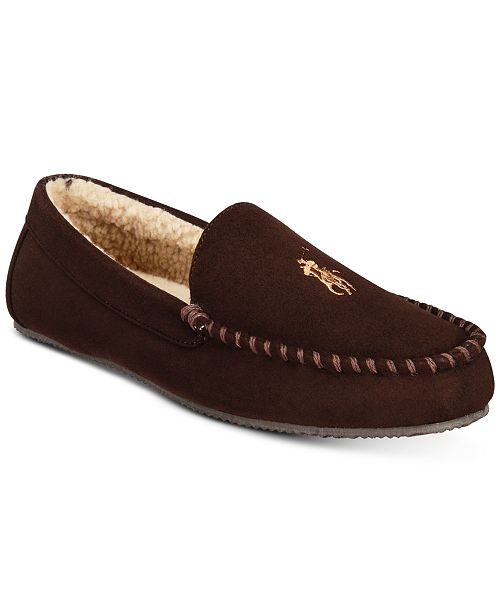 00d13fa72884 Polo Ralph Lauren Men s Dezi Micro-Suede Slippers   Reviews ...