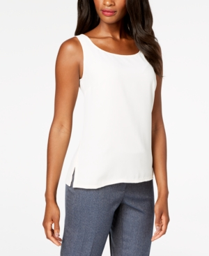 Anne Klein MIXED-MEDIA BLOUSE, CREATED FOR MACY'S