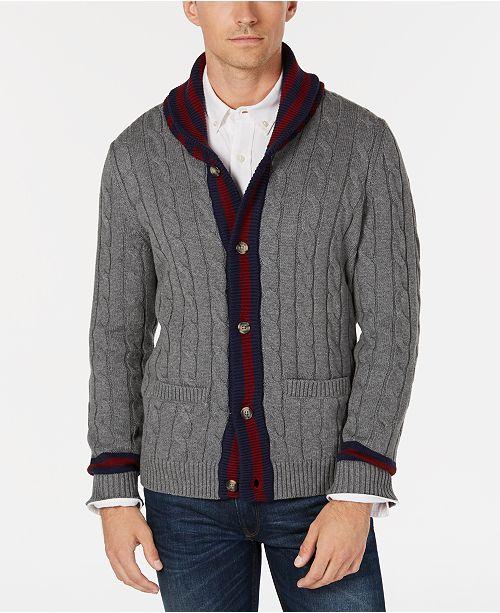 aae90be11e81 ... Club Room Men s Contrast Shawl-Collar Cardigan Sweater