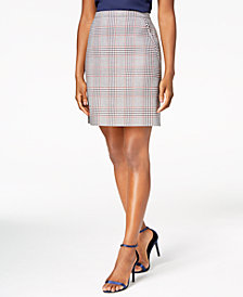 Anne Klein Plaid Skirt, Created for Macy's
