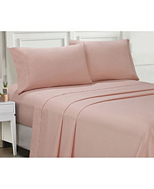 Ellen Tracy Microfiber Full Solid and Print Sheet Set
