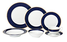 Lorren Home Trends Midnight 28-Pc. Dinnerware Set, Service for 4