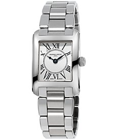 Women's Swiss Carree Stainless Steel Bracelet Watch 23x21mm