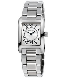 Frederique Constant Women's Swiss Carree Stainless Steel Bracelet Watch 23x21mm