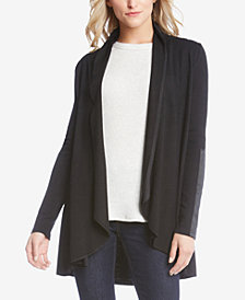 Karen Kane Faux-Leather-Trim Cardigan