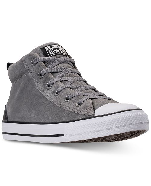 20fab77082dbed ... Converse Men s Chuck Taylor Street Mid Varsity Jacket Casual Sneakers  ...