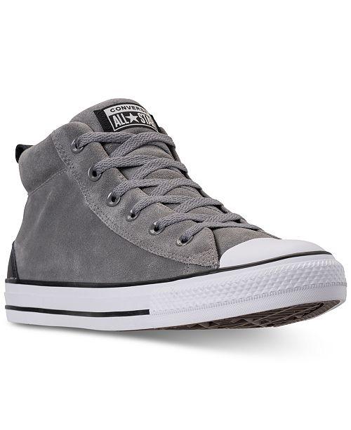 ed49aebc4f5634 ... Converse Men s Chuck Taylor Street Mid Varsity Jacket Casual Sneakers  ...