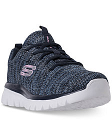Skechers Women's Graceful - Twisted Fortune Walking Sneakers from Finish Line