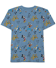 Disney Big Boys Mickey Mouse Printed T-Shirt