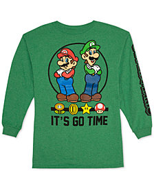 Nintendo Big Boys Super Mario Graphic Cotton T-Shirt