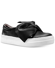 Nina Toddler, Little & Big Girls Isabeth Bow-Trim Sneakers