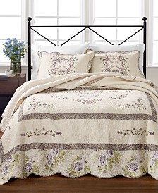 Martha Stewart Collection Midland Vine 100% Cotton Twin Bedspread, Created for Macy's