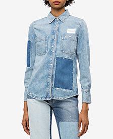 Calvin Klein Jeans Cotton Patched Denim Shirt