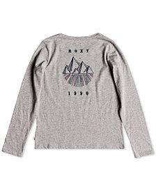 Roxy Big Girls Long-Sleeve Graphic-Print Cotton T-Shirt