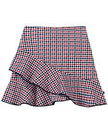 Tommy Hilfiger Big Girls Ruffle-Trim Houndstooth Skirt