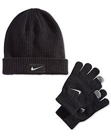 Nike Big Boys 2-Pc. Chrome Swoosh Hat & Gloves Set