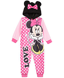 AME Toddler Girls 1-Pc. Minnie Mouse Hooded Pajamas