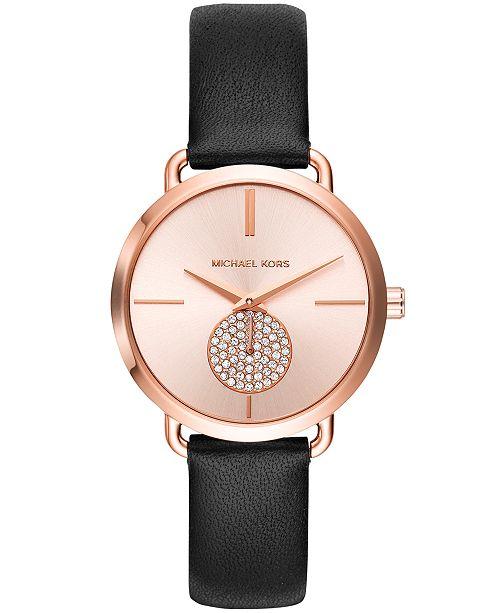 f3b6aea49d21 ... Set  Michael Kors Women s Portia Rose Gold-Tone Stainless Steel  Bracelet Watch 36mm Gift ...