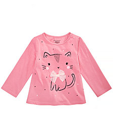 First Impressions Baby Girls Kitty Graphic Cotton Shirt, Created for Macy's