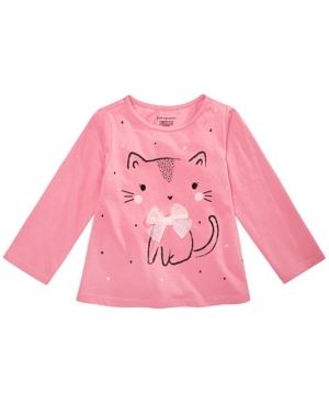 First Impressions Toddler Girls Kitty Graphic Cotton Shirt Created for Macys