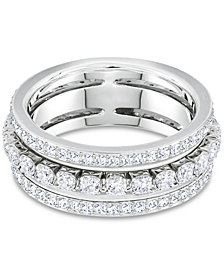 Swarovski Crystal Triple-Row Ring