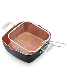 "Gotham Steel 11"" Deep Square Pan w/ lid"