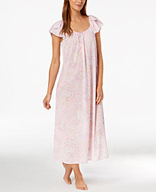 Miss Elaine Printed Tricot Nightgown