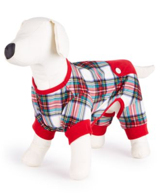 Matching Stewart Plaid Pet Pajamas, Created for Macy's