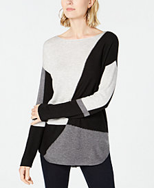 I.N.C. Petite Colorblocked Sweater, Created for Macy's