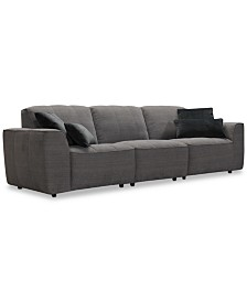 """CLOSEOUT! Amboise 107"""" 3-Pc. Fabric Sectional Sofa, Created for Macy's"""