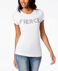 I.N.C. Fierce Embellished T-Shirt, Created for Macy's