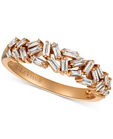 Le Vian® Diamond Baguette Statement Ring (1/2 ct. t.w.) in 14k Rose Gold