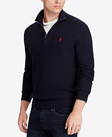 Polo Ralph Lauren Men's Cotton Half-Zip Classic Fit Sweater