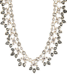 "Givenchy Crystal & Stone 16"" Statement Necklace"